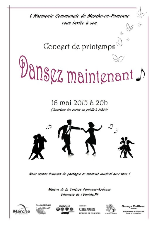 invitations concert printemps 2015 couleur